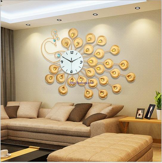 đồng hồ treo tường công vàng may mắn dong-ho-chim-cong-jjt-1508-anh10