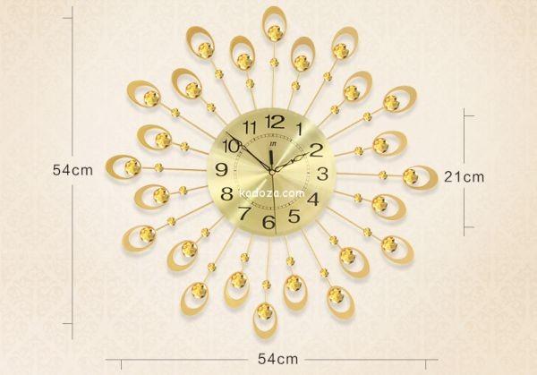 đồng hồ trang trí đuôi công vàng quyến rũ dong-ho-trang-tri-dep-jt1516-kadoza-com-1