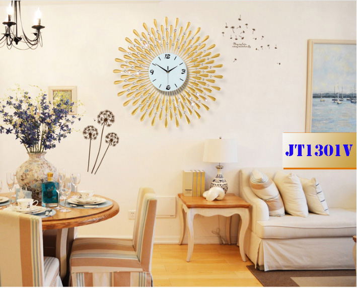 đồng hồ trang trí mặt trời vàng dong-ho-trang-tri-mat-troi-jt1301