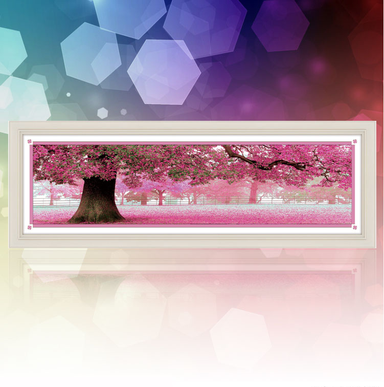 Tranh đính đá cây tình yêu màu tím thủy chung S8268