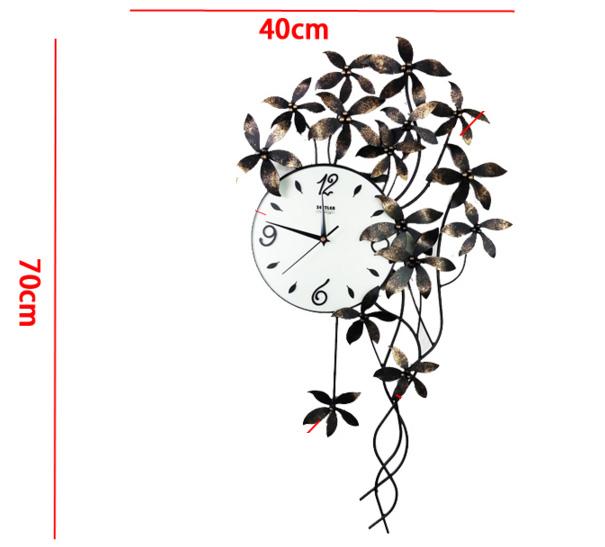 đồng hồ nghệ thuật tóc hoa