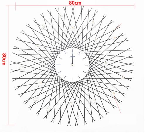 Đồng hồ treo tường đan lưới nghệ thuật KZ107