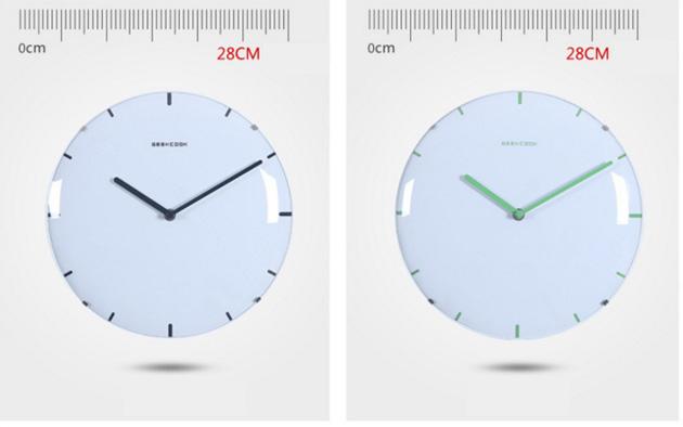 Đồng hồ treo tường hiện đại hai kim