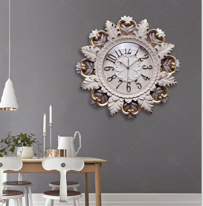 Đồng hồ treo tường nghệ thuật hoa cung đình