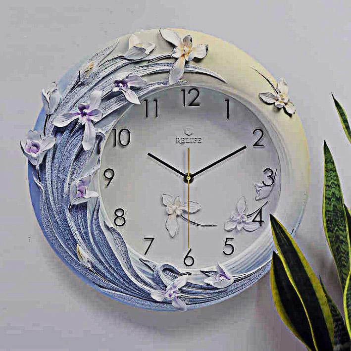 Đồng hồ trang trí dải hoa nghệ thuật