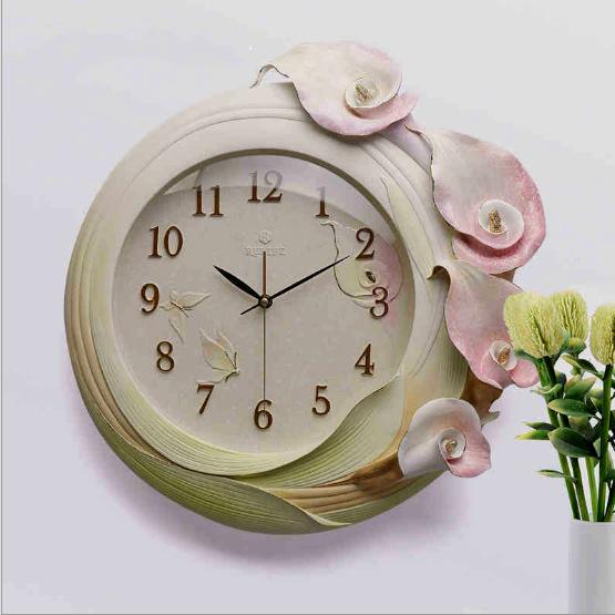 Đồng hồ trang trí dải hoa lan nghệ thuật ZB016A mẫu mới 2017