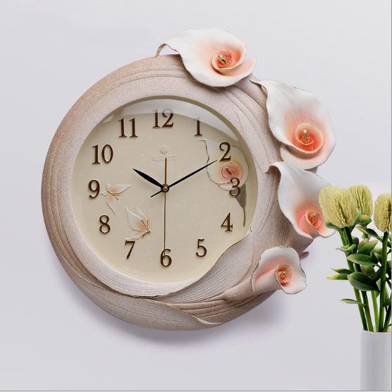 Đồng hồ trang trí dải hoa lan nghệ thuật ZB016A