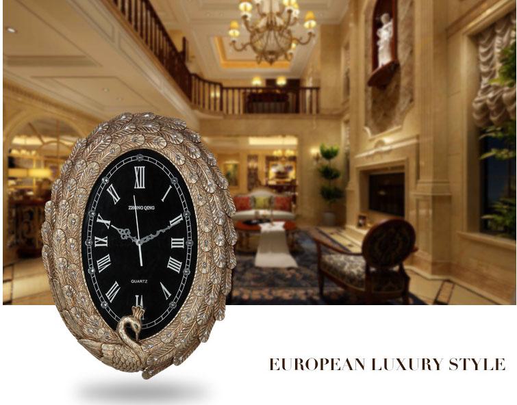 Đồng hồ trang trí công sang trọng và qúy tộc KZ1069
