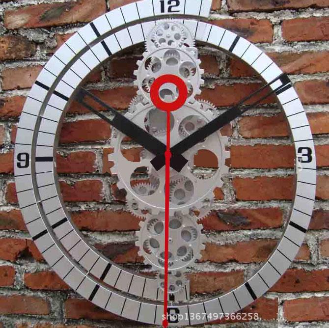 Đồng hồ treo tường bánh răng kim đỏ KZ1199