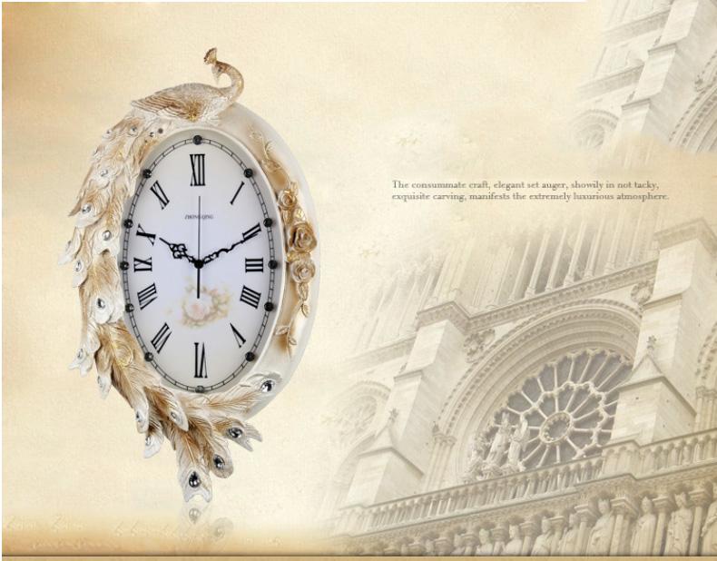 Đồng hồ treo Tường Phượng Hoàng KZ802B - Lộc Vàng Đón Xuân 2017