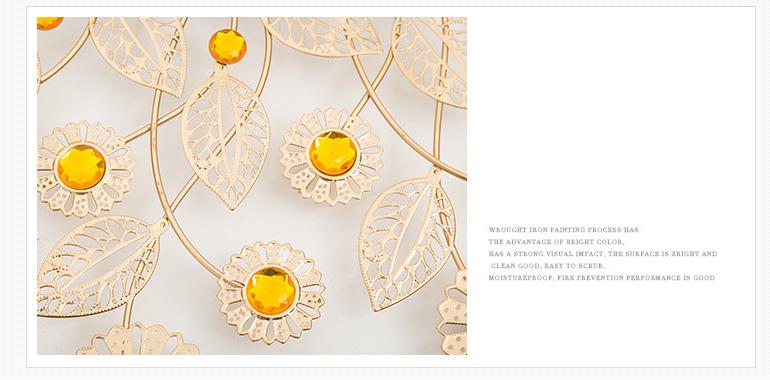 """Đồng hồ nghệ thuật treo tường """"Hoa vàng mấy độ"""" K1966"""