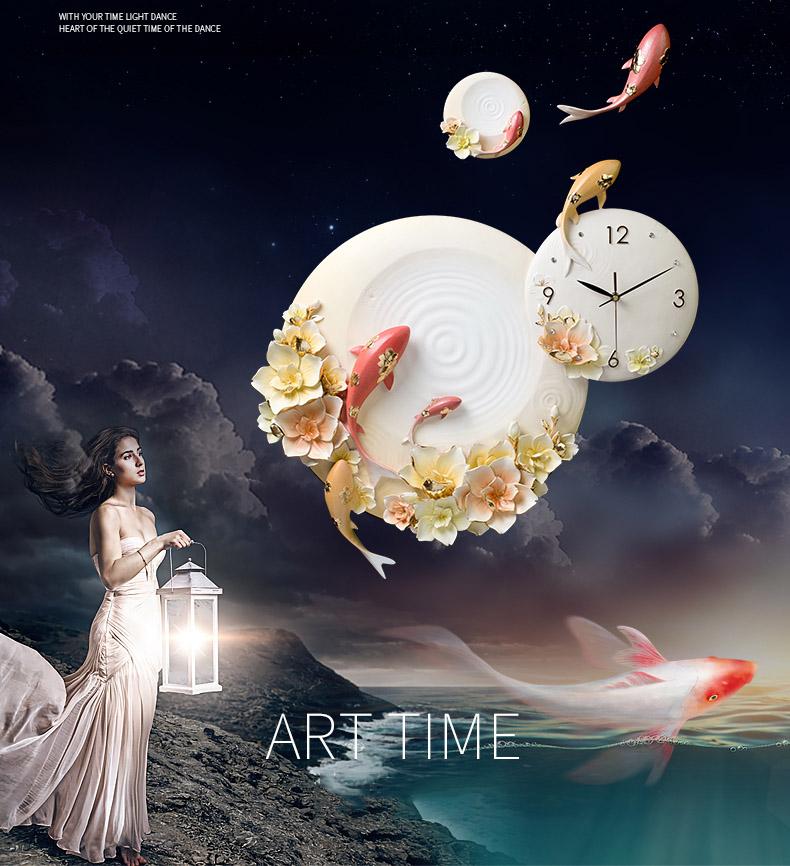 Đồng hồ trang trí nghệ thuật 3D