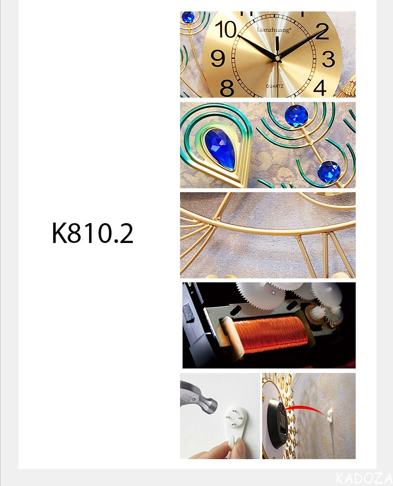 Đồng hồ nghệ thuật Công Hoàng Kiêu Sa K810.2