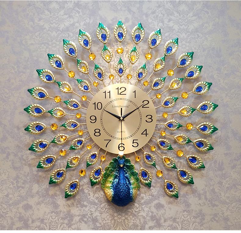 Đồng hồ treo tường nghệ thuật Khổng Tước Kiêu Sa K846.3