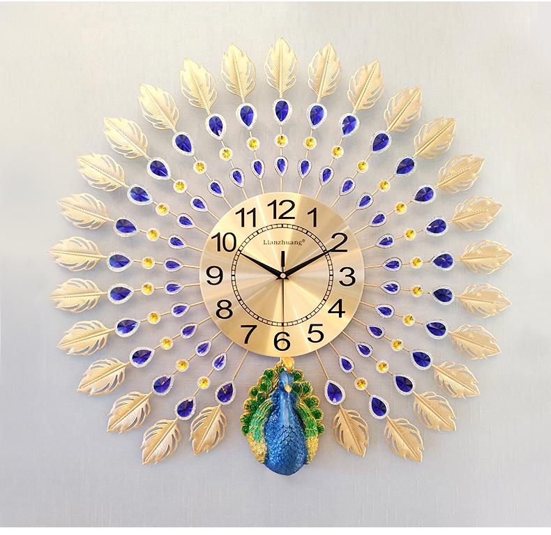 Đồng hồ treo tường nghệ thuật Khổng Tước Kiêu Sa K846.4